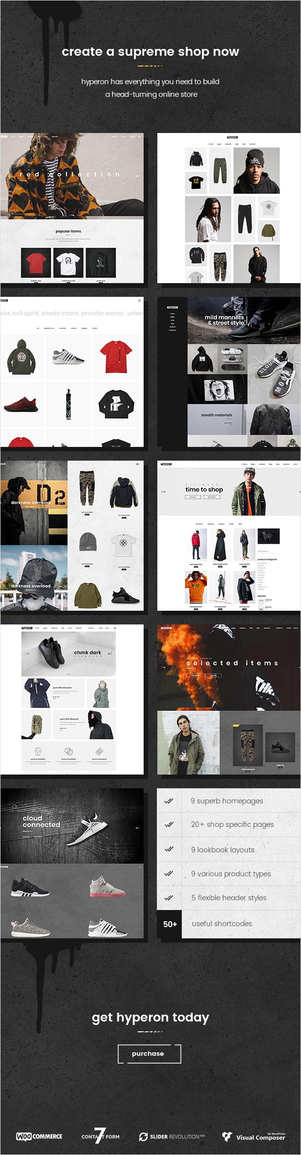 WordPress theme Hyperon - A Streetwear WooCommerce Theme (WooCommerce)